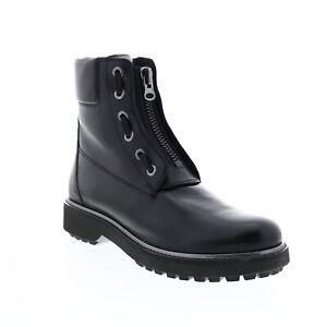 Geox Asheely Plus D84ACA043BNC9B1G Womens Black Leather Casual Dress Boots