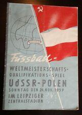 Programm Программа 24.11.57 UDSSR СССР Polska страна игра Länderspiel Россия