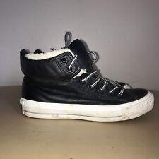 0a4e7784e44 Converse Boots Size 3.5 Black Leather Ankle Boots Converse Hi-Tops