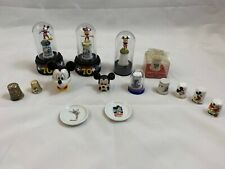DISNEY Lot 13 Assorted Mickey Mouse Thimbles Enesco 70 Happy Years 2 Mini Plates
