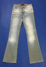 X cape jeans donna usato bootcut zampa vita alta w28 tg 42 denim vintage T3340