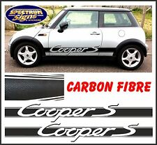 MINI COOPER 'S' BMW RACING SIDE STRIPES in CARBON FIBRE - FIT THE BEST!