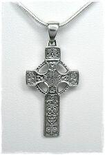 NEU 50cm SCHLANGENKETTE mit 925 Silber KREUZ ANHÄNGER Keltisches Kreuz