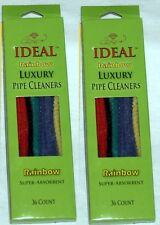 COTTON RAINBOW SMOKING PIPE CLEANER STEMS 2 BOXES