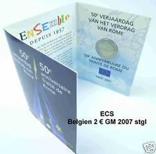 Belgien 2 € Euro GM 2007 Römische Verträge offiz. Folder BU