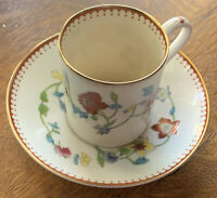 Vintage Astley Royal Worchester Bone China English Demitasse Cup/Saucer Z1822