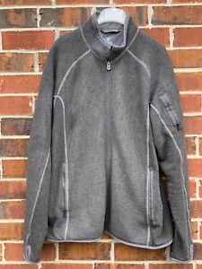 KUHL Coat Fleece Men's Size XXL Large Gray Jacket