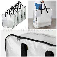 4 x IKEA DIMPA Large Transparent Plastic Zip Storage Bags