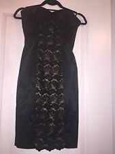 bebe dress Little Black Dress LBD Lace And Satin