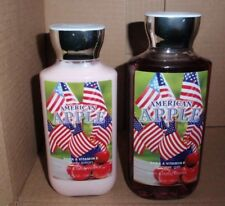 BATH AND BODY WORKS AMERICAN APPLE SHOWER GEL & BODY LOTION SET BRAND NEW