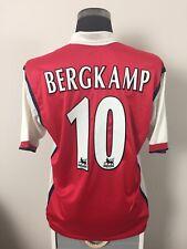 BERGKAMP #10 Arsenal Home Football Shirt Jersey 1999/2000 (L)