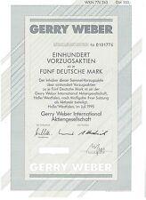Gerry Weber  AG 500DM Halle Westfalen  1995  Vorzüge