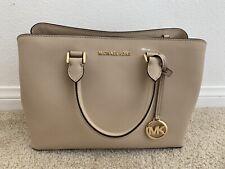 Brand New  Michael Kors Beige Savannah Large Saffiano Leather Satchel $398