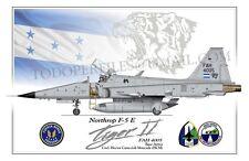 F-5 E Tiger II - Fuerza Aerea de Honduras - Poster Profile