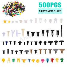 500Pcs Mix Auto Push Pin Fastener Clip Door Trim Panel Rivet Bumper Fender Kits