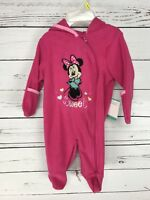 Disney Baby One Piece Girls Infant 0 / 3 Months Minnie Mouse Pink New