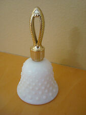 White Milk Glass Avon Hobnail Bell, Here's My Heart