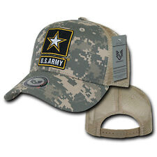 United States Army Star ACU Camo Cotton Baseball Trucker Mesh Military Cap Hat