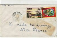 Ghana 1975 Accra North Cancel Air mail to France Stamps Cover ref R 16293
