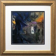 """Marc Chagall """"The Wedding Candles"""" New CUSTOM FRAMED Art Rare Poster Bride"""