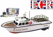 NEW KIDS RC RADIO REMOTE CONTROL TWIN PROPELLER SEA FISHING BOAT TRAWLER