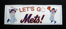 Vintage Let's Go Mets New York Mets Baseball Bumper Sticker