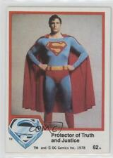 1978 Topps Superman The Movie #62 Protector of Truth and Justice Card 0e3