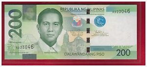 2010 PHILIPPINES 200 Peso NGC (New Generation Cu) Aquino III, A Series, UNC.