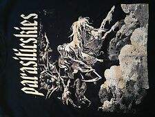 RARE Parasiticskies Hardcore Punk Straight Edge Band T Shirt. Sz. Medium Oi Mosh