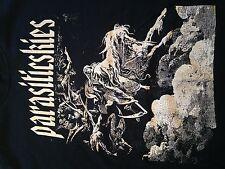 RARE Parasiticskies Hardcore Punk Straight Edge Band T Shirt. Sz. Medium Oi Mosh