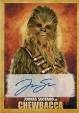Solo A Star Wars Story, Joonas Suotamo 'Chewbacca' Autograph Card 08/10