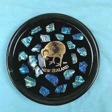Vintage New Zealand Paua Abalone Plate Souvenir Plate Picture Wall Hanging
