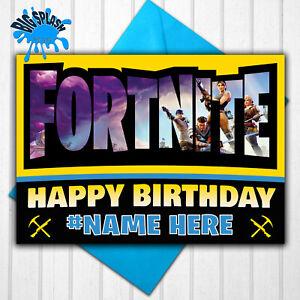 Fortnite Personalised Birthday Card Any Name/Relative