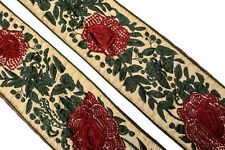 Vintage Sari Lace Border Trim Embroidered Sewing Antique Ribbon Lace 1 Yd ST2552