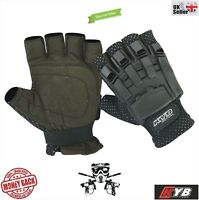 Paintball Half Finger less GLOVES Hunting Airsoft Tactical Protective Armour UK