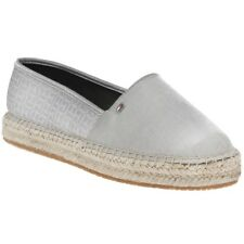 Tommy Hilfiger Th Pattern Espadrille Womens Silver Textile Slip on - 39 EU