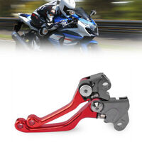 For Honda CRF230F CRF150F 2003-2008 CNC Pivot Brake Clutch Levers Aluminum Red