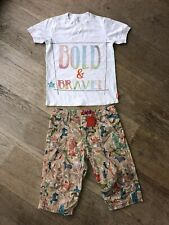 Oilily Boy Shorts & Tee Outfit Age 7 8 New