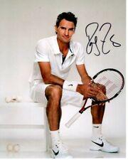 ROGER FEDERER Signed TENNIS Photo w/ Hologram COA