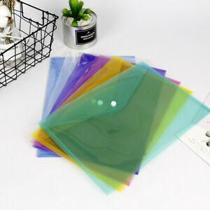 A4 Clear Stub Files Holder Plastic Document Wallet Folder Filing Storage Office