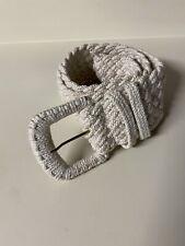 Vtg Donna Karan Cream Braided Belt Waist Wide Statement S