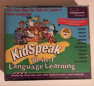 Transparent Language KidSpeak 10 in 1 Language Learning for PC/Window/Mac
