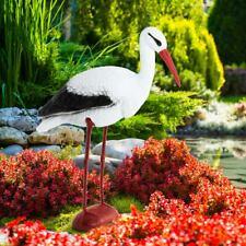 CICOGNA in piedi Figura Giardino Decorazione Ornamento da giardino in terrazza Scultura Statua