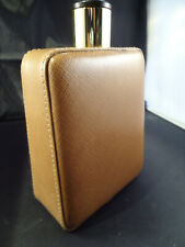 Alfred Dunhill Spirit Flask - Italian Leather & Glass - Large - 1970's Vintage