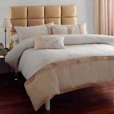 Enya Gold*Embroidered Single Duvet Set*Catherine Lansfield*Bed Linen*RRP 24.99