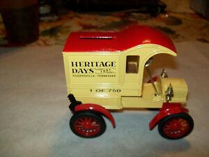 "Ertl #9000 1:25 ""Rogersville, TN Heritage Days #2"" 1905 Ford Delivery Car Bank!"