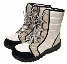 Womens Grey Laced Dog Walking Hiking Winter Snow Ski Ankle Mucker Boots Sz 5/38