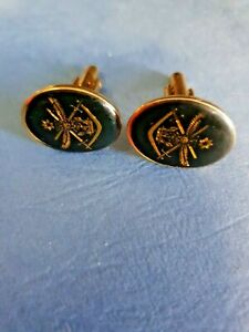 "Aust Defence Force    Cufflinks GOLD-TONE  "" Great Fathers Day Gift "" Beautiful"