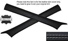 GREY STITCH 2X A POST PILLAR SKIN COVERS FITS MERCEDES W124 E CLASS 83-95