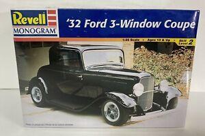 Revell 32 Ford 3-Window Coupe Model Kit 1:25 New Sealed (1998) Monogram Hot Rod